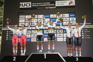 SHMELEVA Daria, VOINOVA Anastasiia, McCULLOCH Kaarle, MORTON Stephanie, WELTE Miriam, HINZE Emma: UCI Track Cycling World Championships 2019