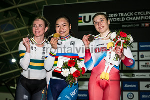 McCULLOCH Kaarle, LEE Wai Sze, SHMELEVA Daria: UCI Track Cycling World Championships 2019
