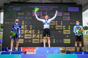 CAVAGNA Rémi, KÜNG Stefan, CAMPENAERTS Victor: UEC Road Championships 2020