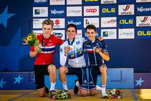 HAGENES Per Strand, GREGOIRE Romain, MARTINEZ Lenny: UEC Road Cycling European Championships - Trento 2021