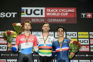 BÜCHLI Matthijs, GLAETZER Matthew, HELAL Rayan: UCI Track Cycling World Cup 2018 – Berlin