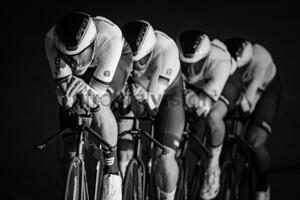 GROß Felix, BUCK GRAMCKO Tobias, REINHARDT Theo, ROHDE Leon: Fotoshooting Track Team BDR 2020 - Frankfurt/Oder