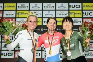 HINZE Emma, VAN RIESSEN Laurine, KOBAYASHI Yuka: UCI Track Cycling World Cup 2018 – Berlin