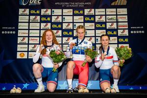 EDMUNDS Rhian, LYSENKO Alina, MOIR Iona: UEC Track Cycling European Championships (U23-U19) – Apeldoorn 2021