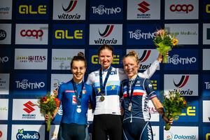 CIABOCCO Eleonora, RIEDMANN Linda, RAYER Eglantine: UEC Road Cycling European Championships - Trento 2021