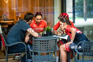 SCHWEINBERGER Kathrin, RIJKES Sarah, SCHWEINBERGER Christina: UEC Road Cycling European Championships - Trento 2021
