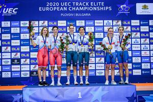 KLIMOVA Diana, NOVOLODSKAYA Maria, GUAZZINI Vittoria, BALSAMO Elisa, KENNY Laura, BARKER Elinor: UEC Track Cycling European Championships 2020 – Plovdiv