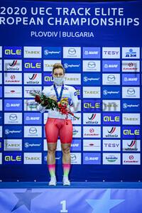 VOINOVA Anastasiia: UEC Track Cycling European Championships 2020 – Plovdiv