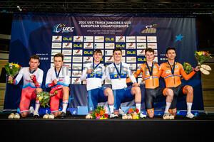 SHCHEGOLKOV Ilia, SHICHKIN Vlas, BRITTON Rhys, TIDBALL William, HEIJNEN Philip, HOPPEZAK Vincent: UEC Track Cycling European Championships (U23-U19) – Apeldoorn 2021