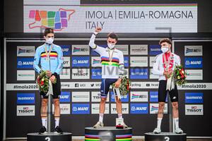VAN AERT Wout, ALAPHILIPPE Julian, HIRSCHI Marc: UCI Road Cycling World Championships 2020