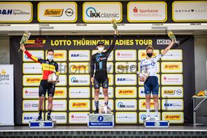 KOPECKY Lotte, WIEBES Lorena, FAHLIN Emilia: LOTTO Thüringen Ladies Tour 2021 - 6. Stage